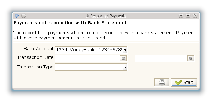 UnReconciled Payments - Report (iDempiere 1.0.0).png