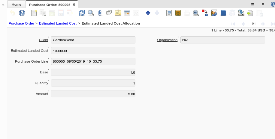 Purchase Order - Estimated Landed Cost Allocation - Window (iDempiere 1.0.0).png